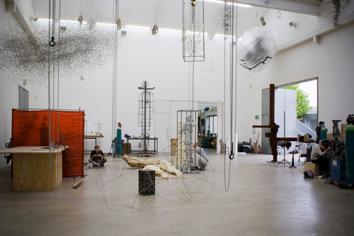A photo of Antony Gormley's studio