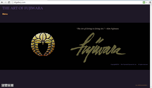 A screen capture of the front page of Kim Fujiwara's website