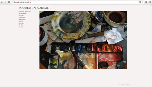 The front page of Boudewijn Korsmit's artist website