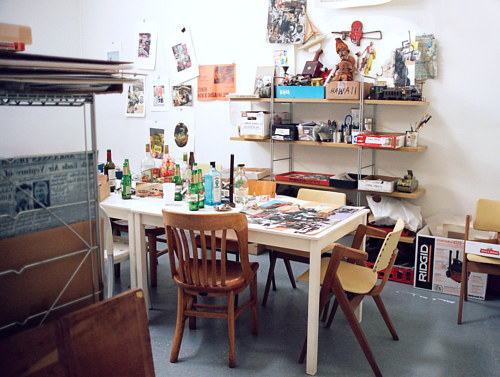 A photograph of Roy Arden's art studio