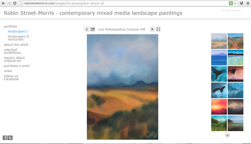 The Landscapes I gallery on Robin Street-Morris' art webpaage