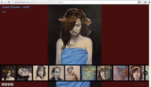 A screen capture of the Birds of a Feather series on Adele Knowler's website