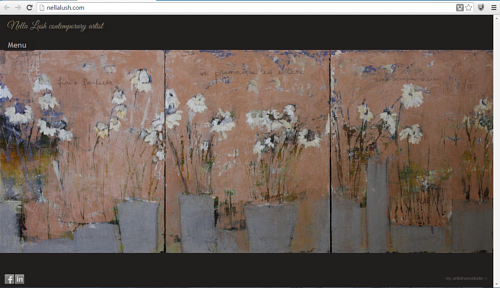 A main page screen capture of Nella Lush's art website