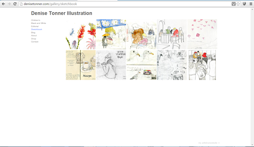 A screen capture of Denise Tonner's online sketchbook