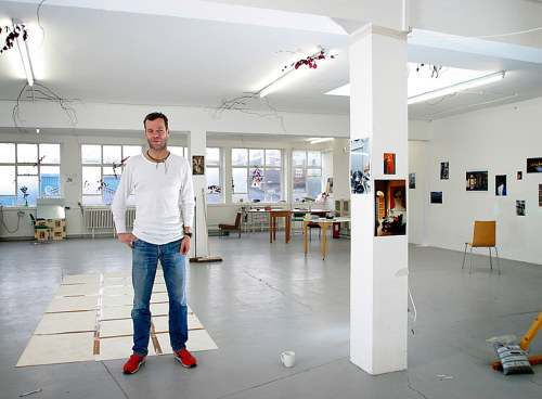 A photo of Wolfgang Tilmans in his studio