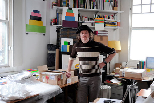 A photo of Martin Creed in his East London studio