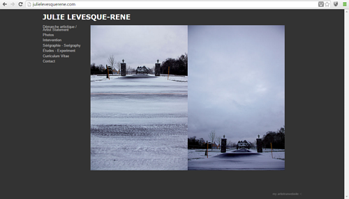 A screen capture of Julie Levesque-Rene's art website