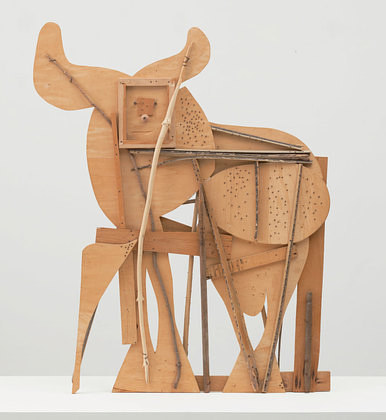 A photo of Pablo Picasso's Bull sculpture