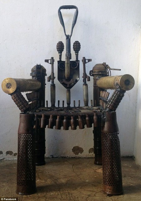A photo of Goncalo Mabunda's War Throne
