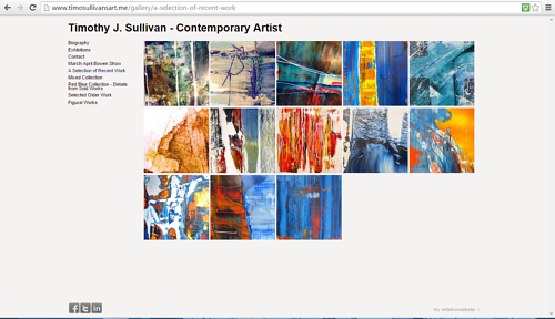 A gallery of recent works on Timothy J. Sullivan's art website