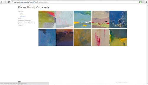 A screen capture of the Elements gallery on Donna Bruni's website