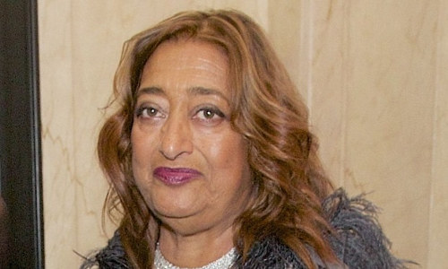A photo of architect Zaha Hadid