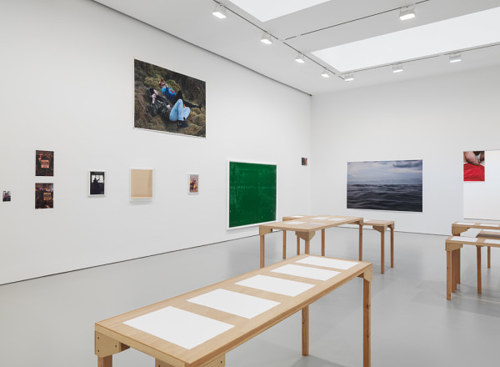 A photo of Wolfgang Tillmans' exhibition, PCR