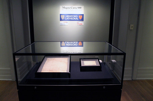 The Magna Carta on display at the New York Historical Society