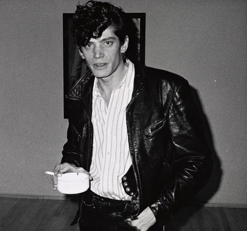 A photo of photographer Robert Mapplethorpe in the 80's