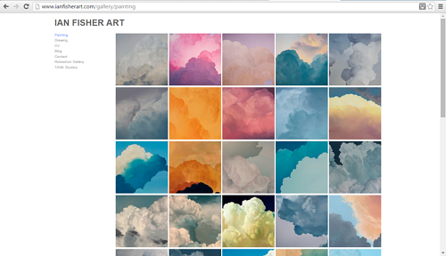 A screen capture of Ian Fisher's online painting gallery