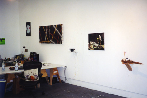 A photo of Laura Owens' studio