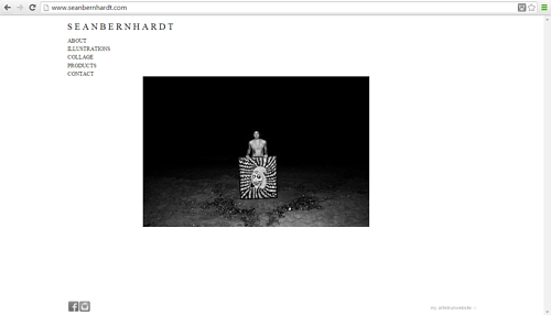 A screen capture of Sean Bernhardt's art website