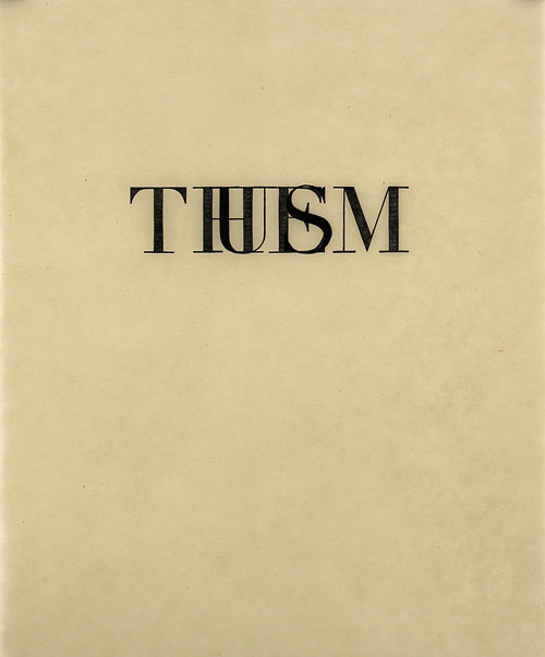 "A print featuring the words ""us"" and ""them"" on top of each other"