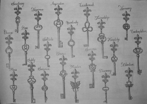 drawings of many keys