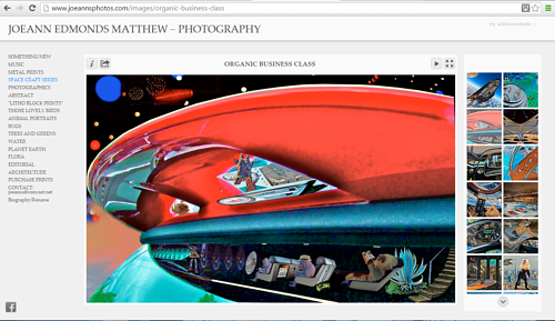A screen capture of a gallery of works on Joeann Edmonds Matthew's website
