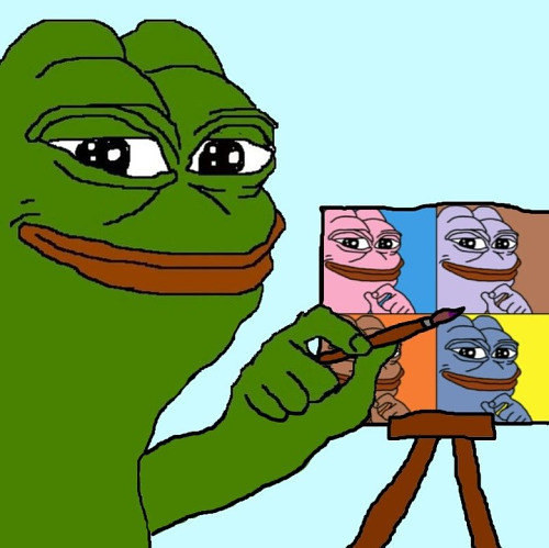 A Pepe the Frog internet meme image