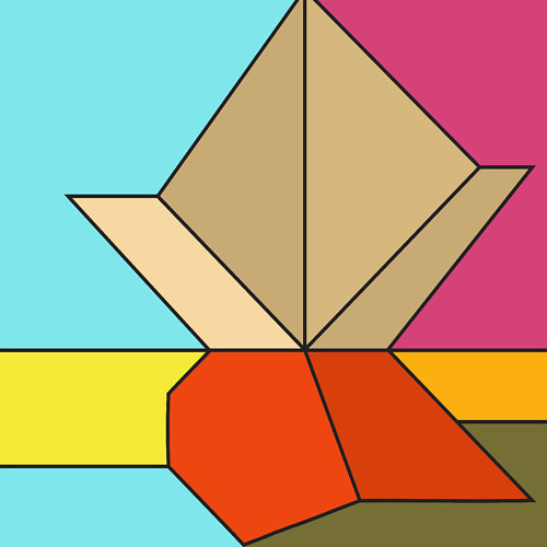 An abstract geometric digital illustration