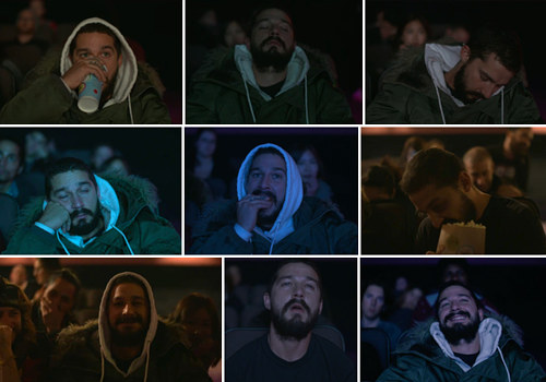 A composite image of Shia LaBoeuf reacting to his own films