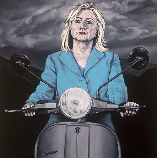 A painting of Hillary Clinton by Sarah Sole