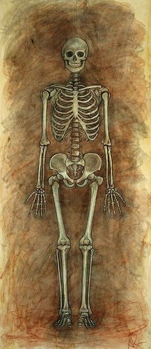 Painting of a skeleton