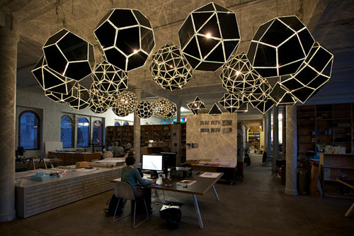 A photo of Olafur Eliasson's Berlin studio