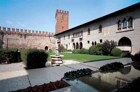 A photo of the Castelvecchio museum in Verona