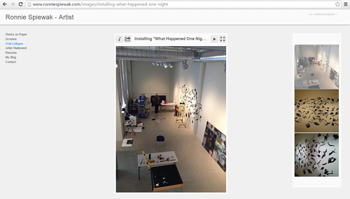A screen capture of a gallery on Ronnie Spiewak's art website