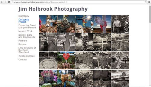 A screen capture of the Descano project gallery on Jim Holbrook's website