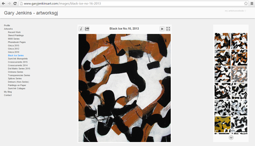 A screen capture of Gary Jenkins' art website