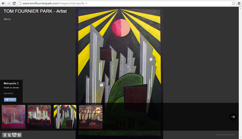 A screen capture of Tom Fournier Park's painting website