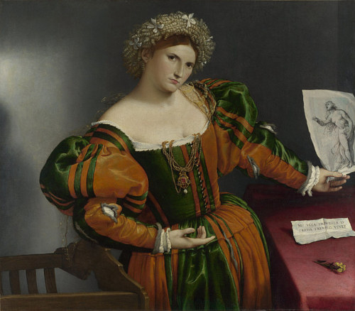 A Lorenzo Lotto painting considered public domain on Wikimedia