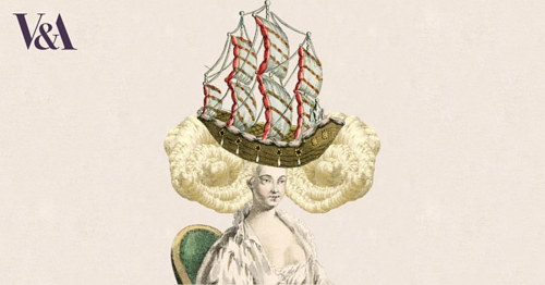 A Marie Antoinette wig made on the V&A museum's interactive game