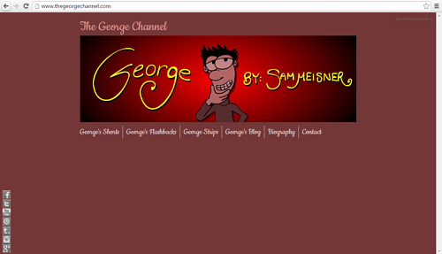 A screen capture of Sam Meisner's website, The George Channel