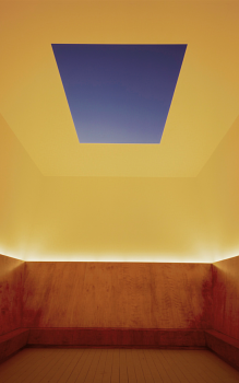A photo of James Turrell's Unseen Blue at the Mattress Factory