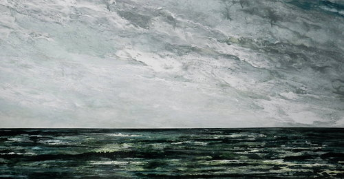 Ocean scene in oil paint