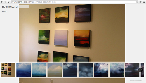 Bonnie Laird's online gallery of cloud, ocean and sky paintings