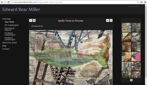 A gallery of new work on Edward Bear Miller's website