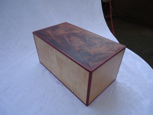 A simple handmade box for cremation ashes