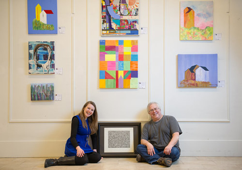A photo of the founder of ArtLifting with artist Scott Benner