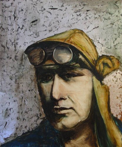 Painting of a welder