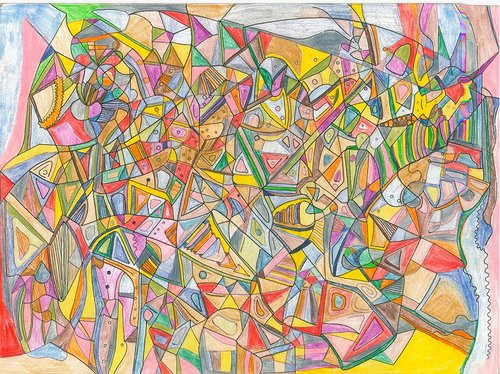 colorful geometric abstract drawing