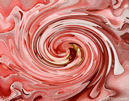 A digital painting of a swirling flower