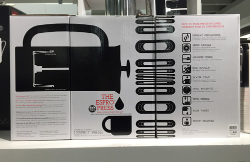 A packaging design for the ESPRO espresso press