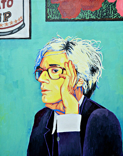 Painting of Andy Warhol